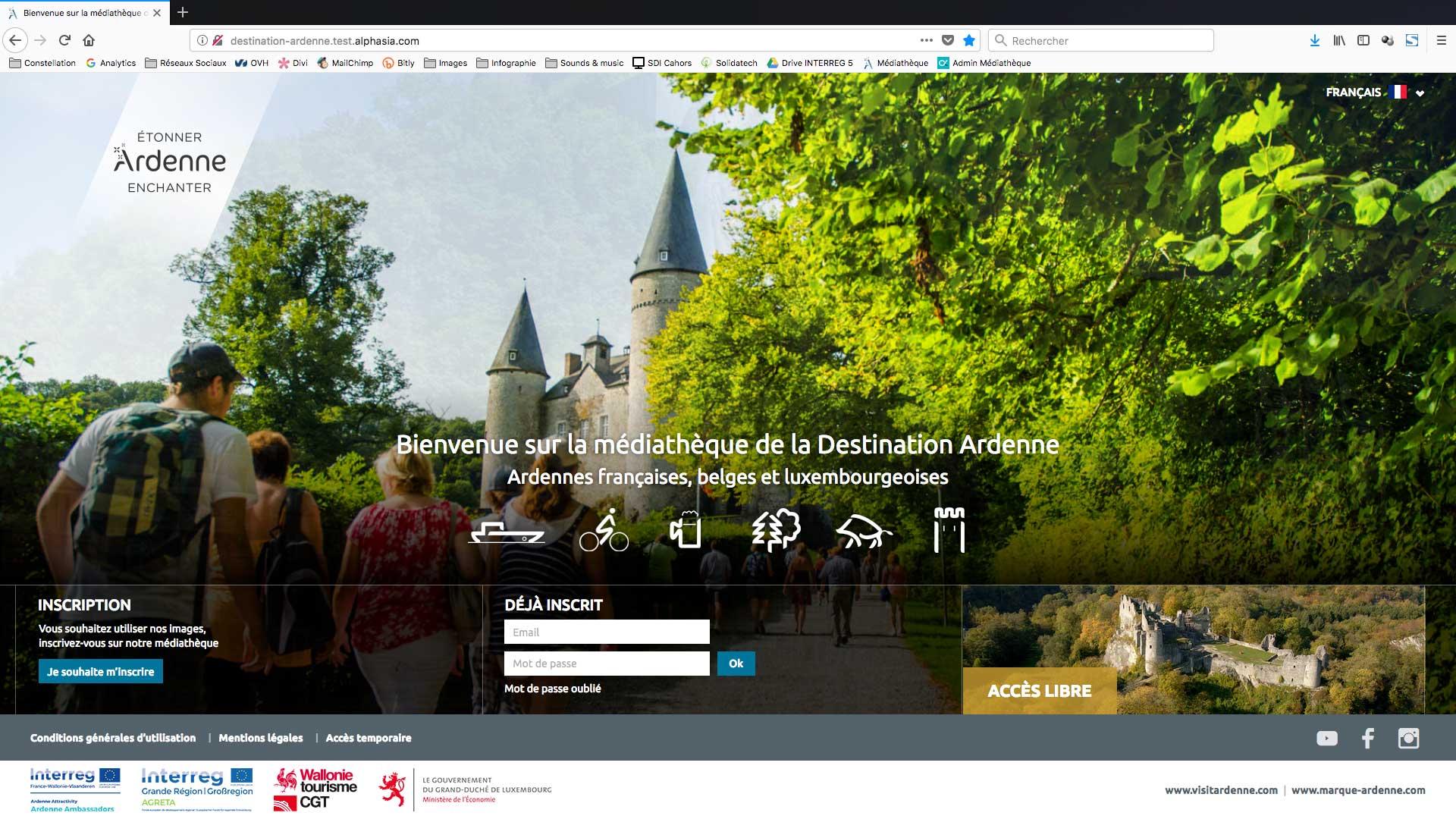Nouveaux outils marque Ardenne, la médiathèque