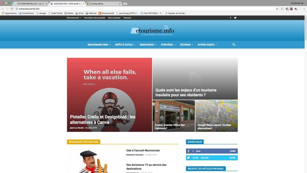 Veille stratégique, le blog e-tourisme