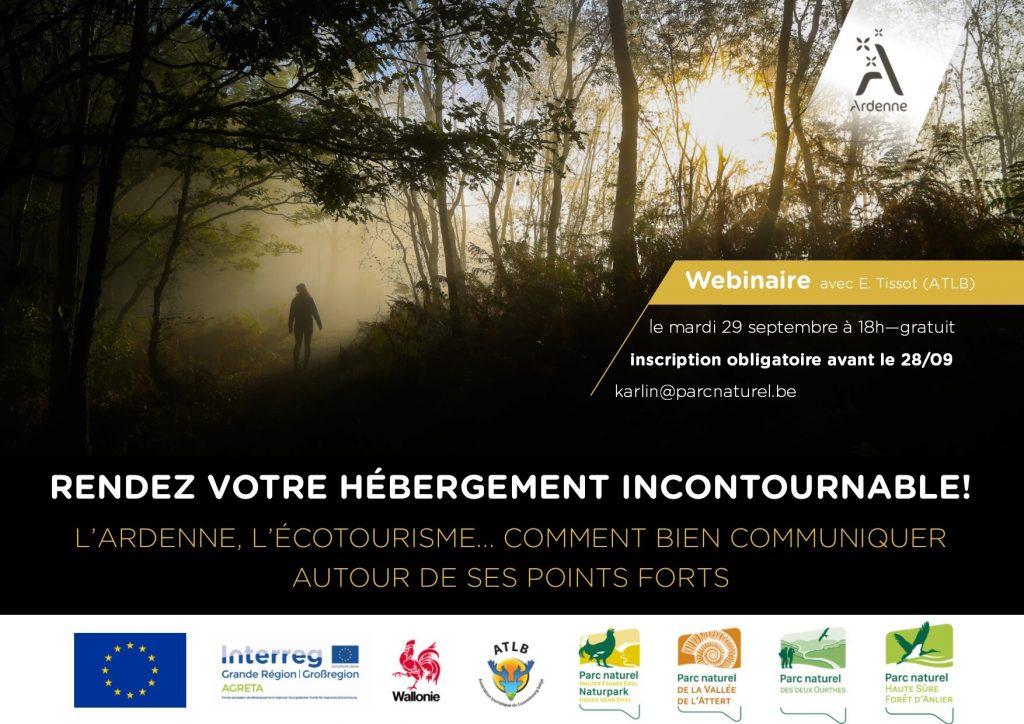 Affiche webinaire écotourisme ardenne