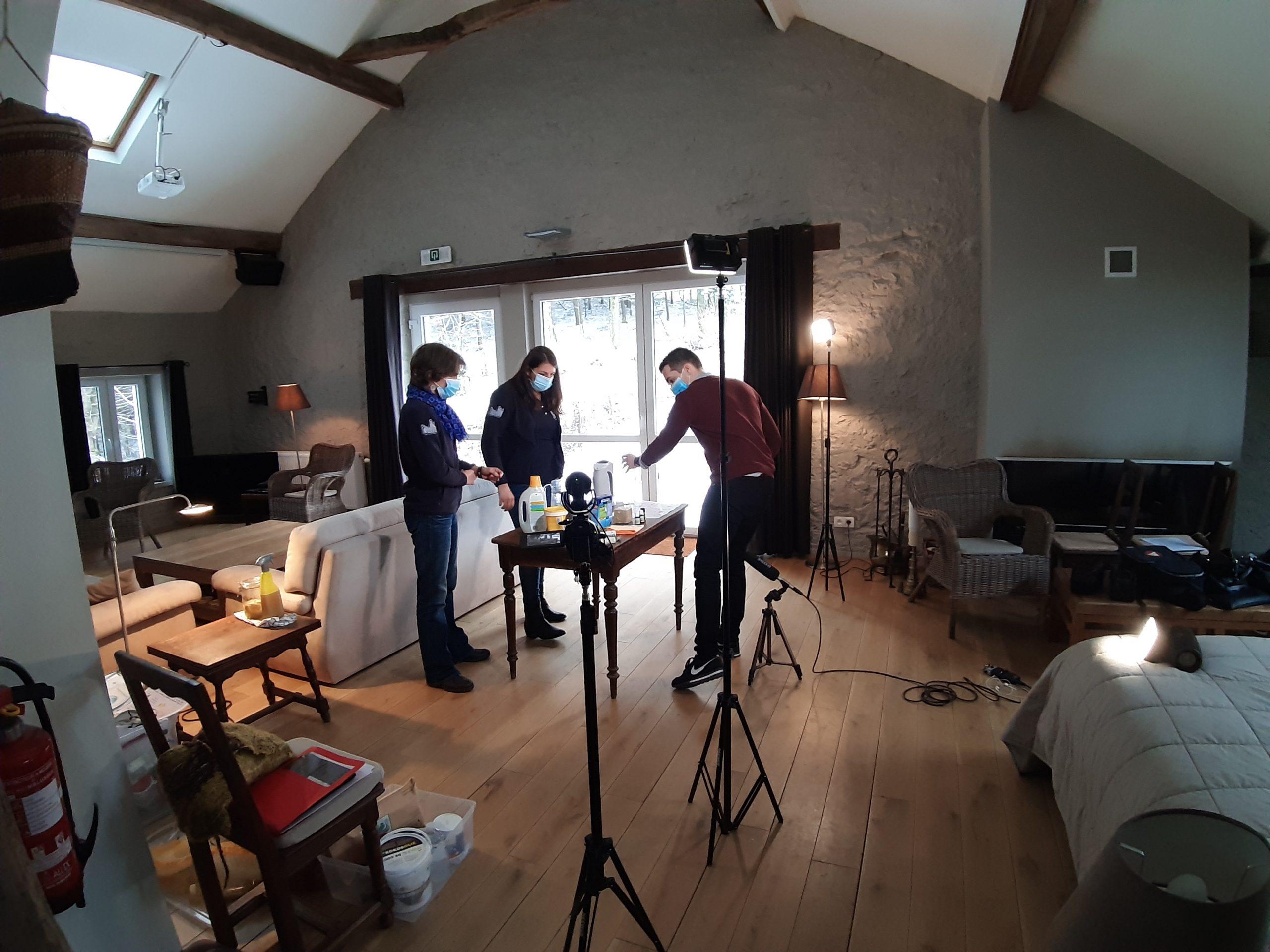 tournage tuto vidéo écogestes - La Grange de Lesse - entretien au naturel